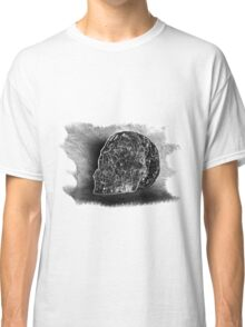 Black And White Skull On Transparent Background Classic T-Shirt