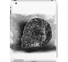 Black And White Skull On Transparent Background iPad Case/Skin