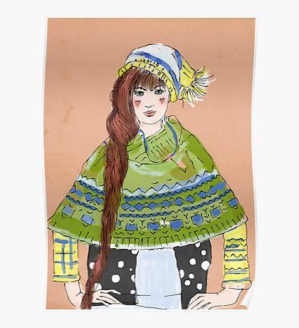 winter girl Poster