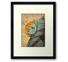 Courage begins by trusting oneself Framed Print