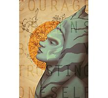 Courage begins by trusting oneself Photographic Print