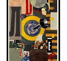 Dada Tarot- Seven of Batons by Peter Simpson