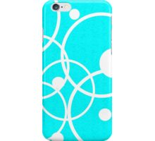 Circles on Blue iPhone Case/Skin