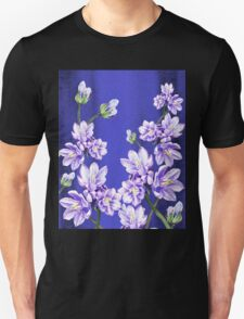 Purple Flowers Blue Blue Sky T-Shirt