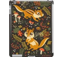 Two Cute Chipmunks in Autumn Background iPad Case/Skin