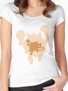 PKMN Silhouette - Mankey Family Women's Fitted Scoop T-Shirt