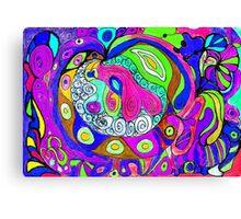 Swirlie Clouds of Brilliant Color Canvas Print