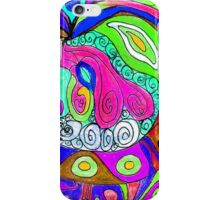 Swirlie Clouds of Brilliant Color iPhone Case/Skin
