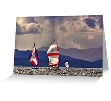 Sailing off Mull Greeting Card