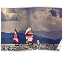 Sailing off Mull Poster