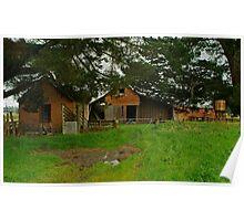 Farm Near Ballan,Victoria Poster
