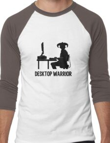 Desktop Warrior Men's Baseball ¾ T-Shirt