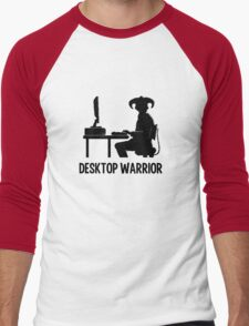 Desktop Warrior Men's Baseball ¾ T-Shirt