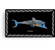 Delphinus delphis -  Dolphin Canvas Print