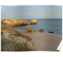 """Evening Shore""  West Coast of Albufeira in Portugal Poster"