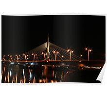 Esplanade Riel (night view) Poster