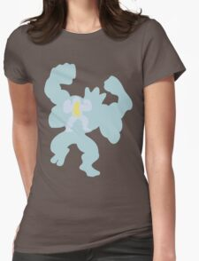 PKMN Silhouette - Machop Family Womens Fitted T-Shirt