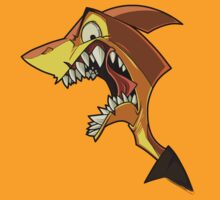 Angry orange shark with shading by The Tundra Ghost