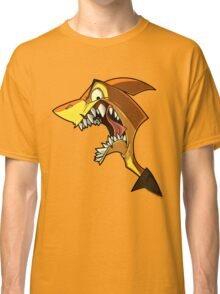 Angry orange shark with shading Classic T-Shirt