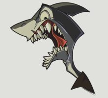 Angry grey shark with shading T-Shirt