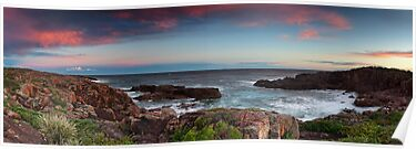 Boat Harbour Sunset 2 - Panorama by Michael Howard