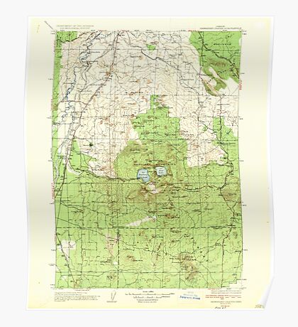 USGS Topo Map Oregon Newberry Crater 283233 1935 125000 Poster