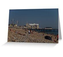 Bognor Regis beach, West Sussex, England, October Greeting Card