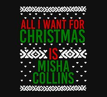 All I Want For Christmas (Misha Collins) Women's Fitted Scoop T-Shirt