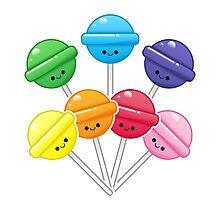 Rainbow lollipop Photographic Print