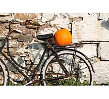 Pumpkin Patch Bike Photographic Print