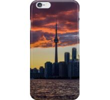 Fire sunset over Toronto iPhone Case/Skin