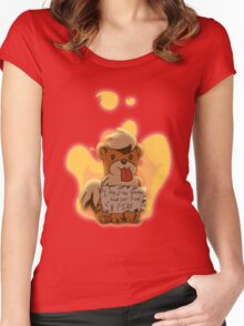 Pokeshaming - Growlithe Women's Fitted Scoop T-Shirt