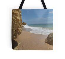 """Atlantic End""  West Coast of Albufeira, Portugal Tote Bag"