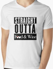 Straight Outta Epcot Food and Wine Mens V-Neck T-Shirt