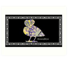 Greek Owl Art Print