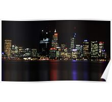 Perth CBD @ Night Poster