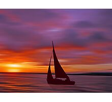 Sailing off into the Sun Photographic Print