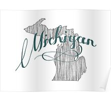 Michigan State Typography Poster