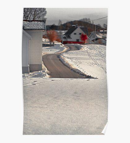 Snow. Landscape. Poster