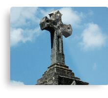 Tomb Cross Metal Print