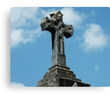 Tomb Cross Canvas Print