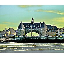 Narragansett Pier Beach - The Towers *featured Photographic Print