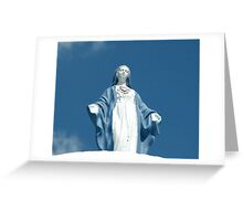 Sacred Heart Virgin Mary Statue Greeting Card