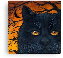 Black Cat Halloween Canvas Print