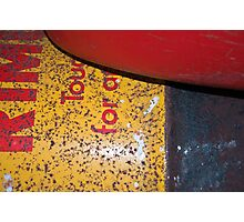 Rusty Oil Tank and A Plastic Basin Photographic Print