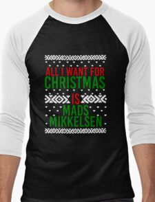 All I Want For Christmas (Mads Mikkelsen) Men's Baseball ¾ T-Shirt
