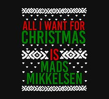 All I Want For Christmas (Mads Mikkelsen) Women's Fitted Scoop T-Shirt