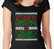 All I Want For Christmas (Gillian Anderson) Women's Fitted Scoop T-Shirt