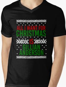 All I Want For Christmas (Gillian Anderson) Mens V-Neck T-Shirt