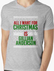 All I Want For Christmas (Gillian Anderson) Mens V-Neck T-Shirt